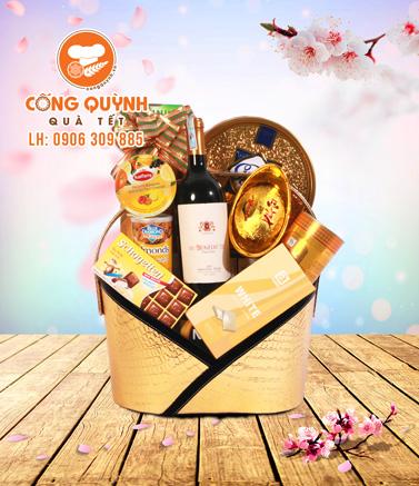 Giỏ quà tết cho nhân viên - Quatet.congquynh.vn